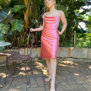Summer Pink Cocktail Dress